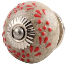 Ceramic crackle knob
