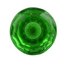 Glass diamond shape knob