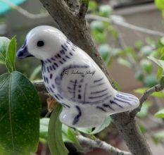 Purple Feather Bird Knob