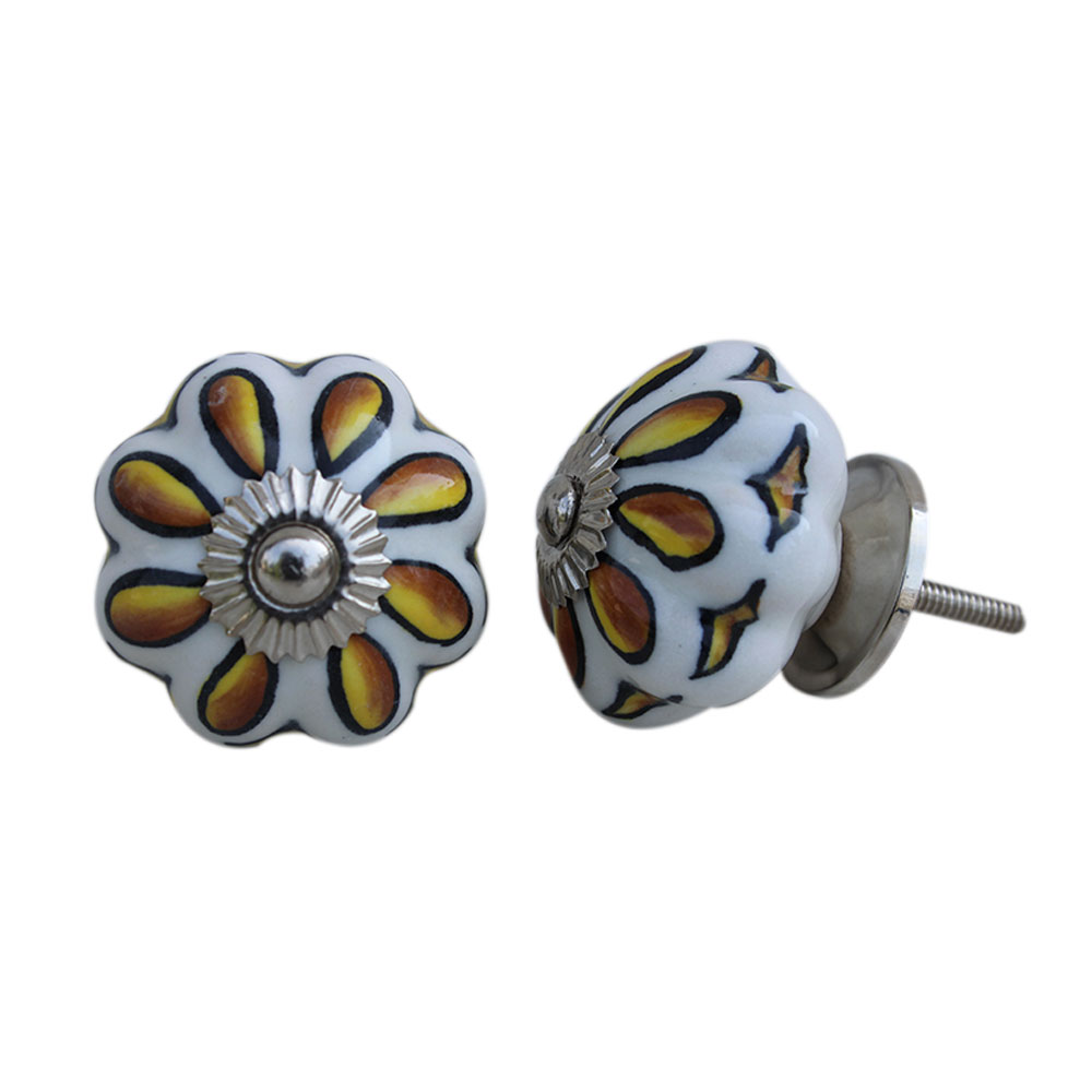 Sunflower Ceramic Knob