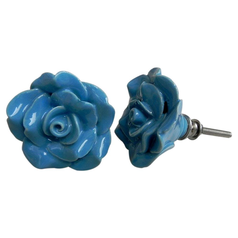 Sky Blue Rose Knob