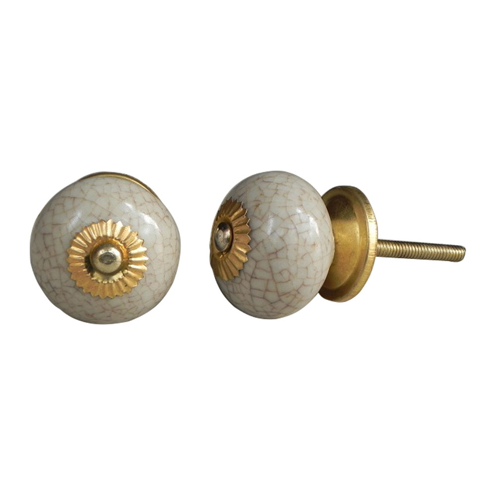 Round Crackle Ceramic Drawer Knob Online