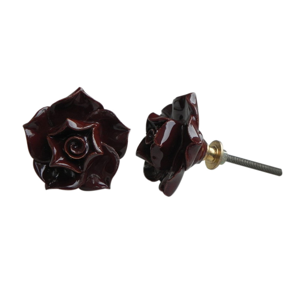 Chocolate Rose Knob