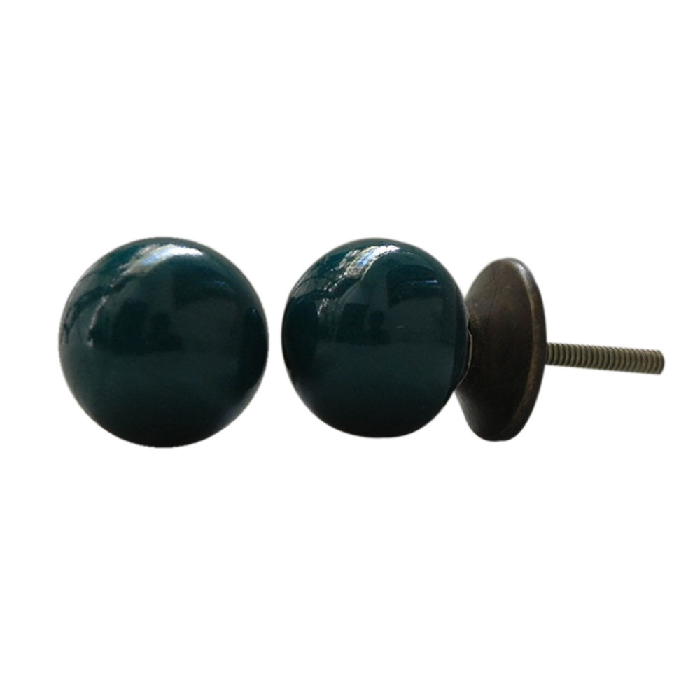 Dark Green Knob Small