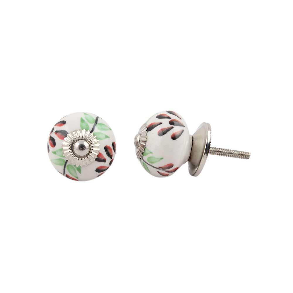 Green Leaf Ceramic Drawer Knob Online