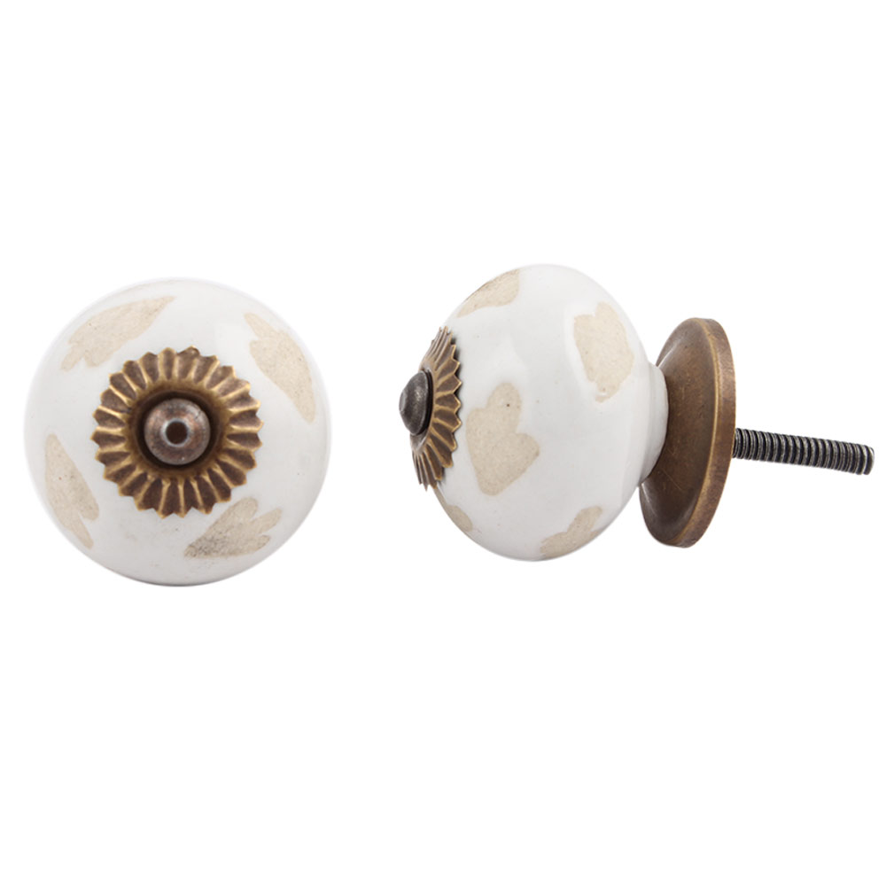 White Etched Ceramic Knob-23