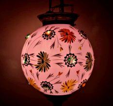 Pink Flower Lamp