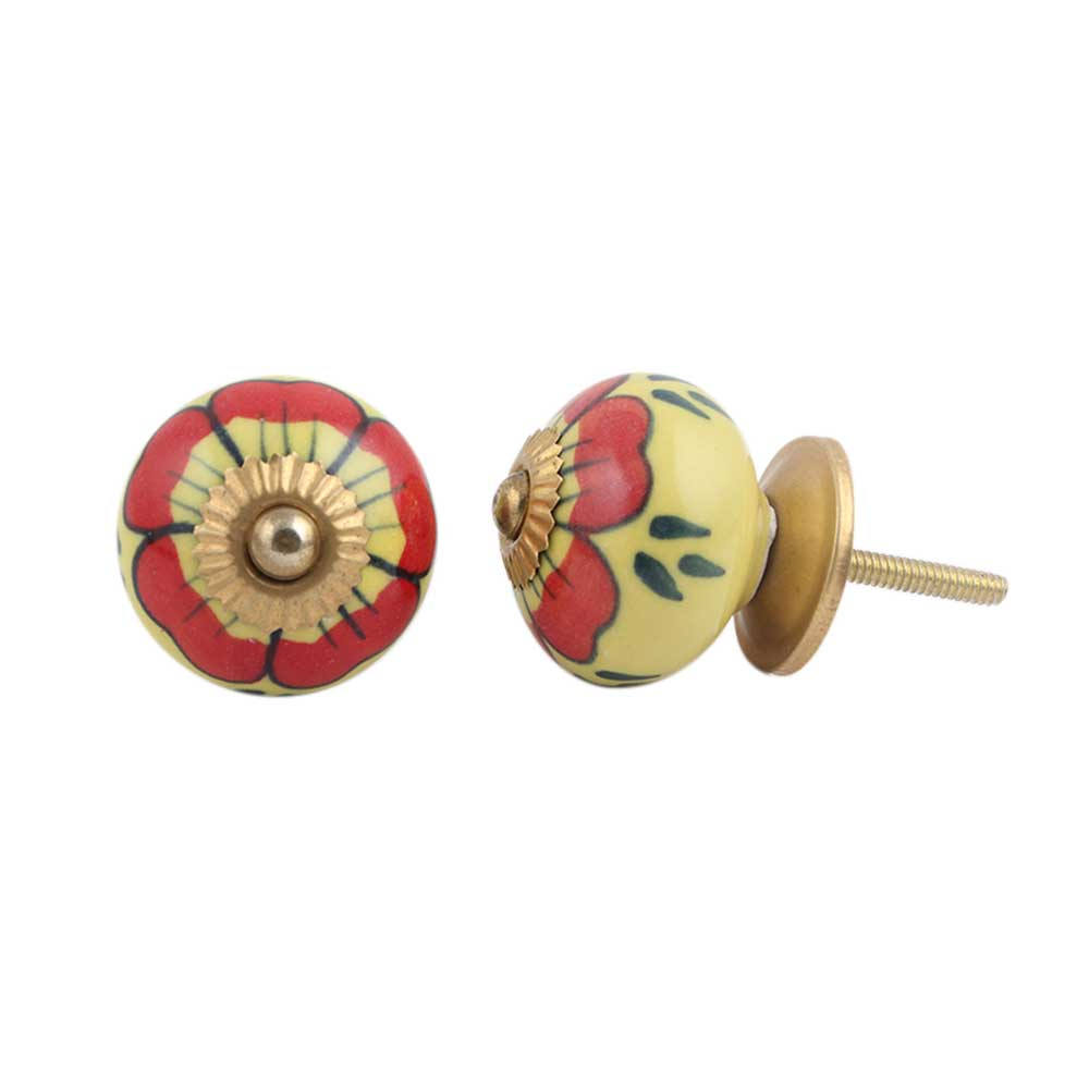 Auricula Winifred Ceramic Knob
