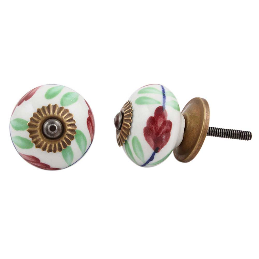 Cherry Lily Ceramic Knob