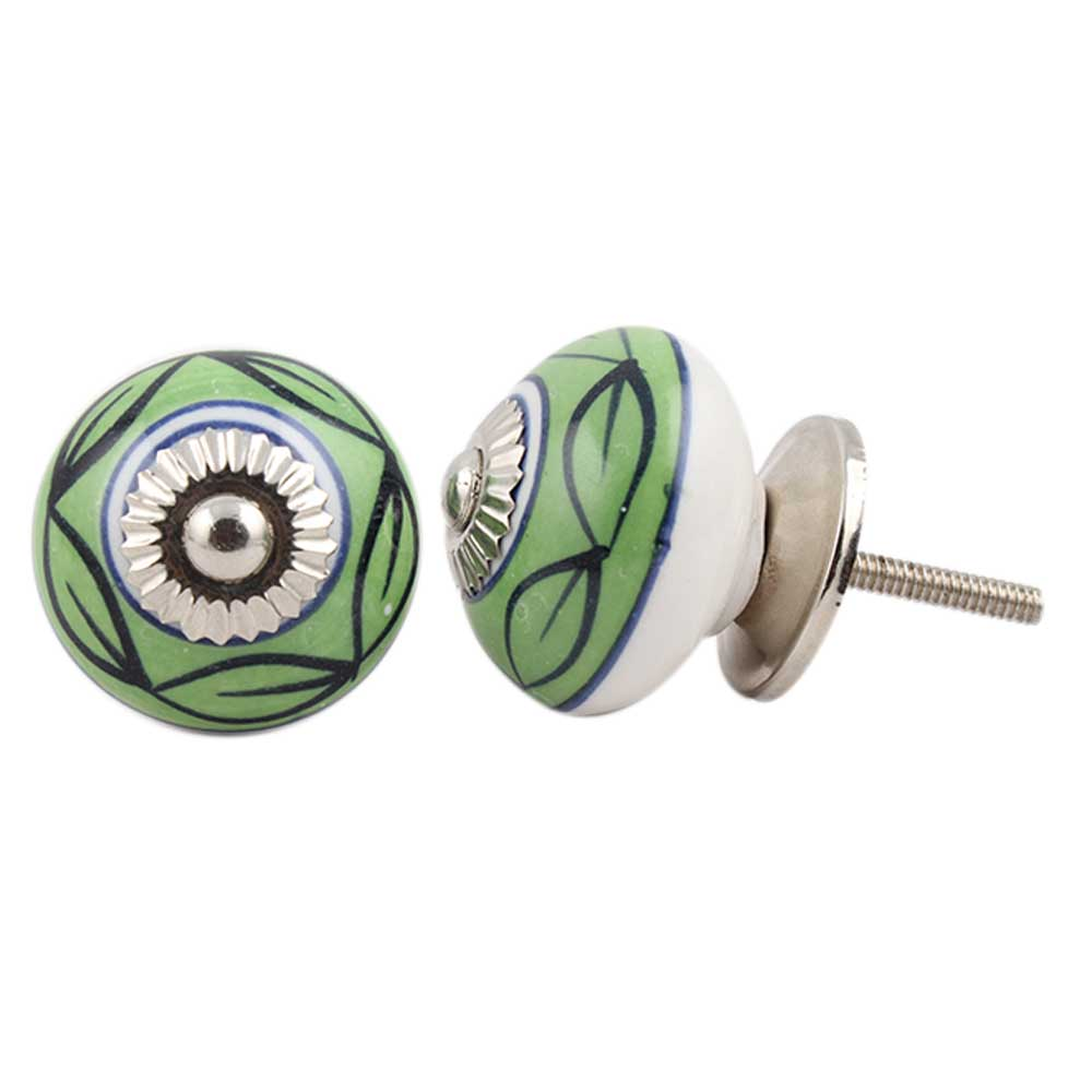 Green Loop Ceramic Knob