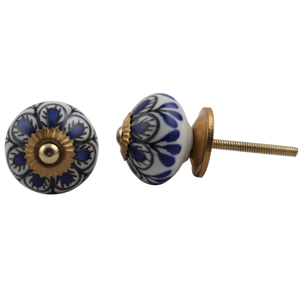 Black Blue Drop Knob