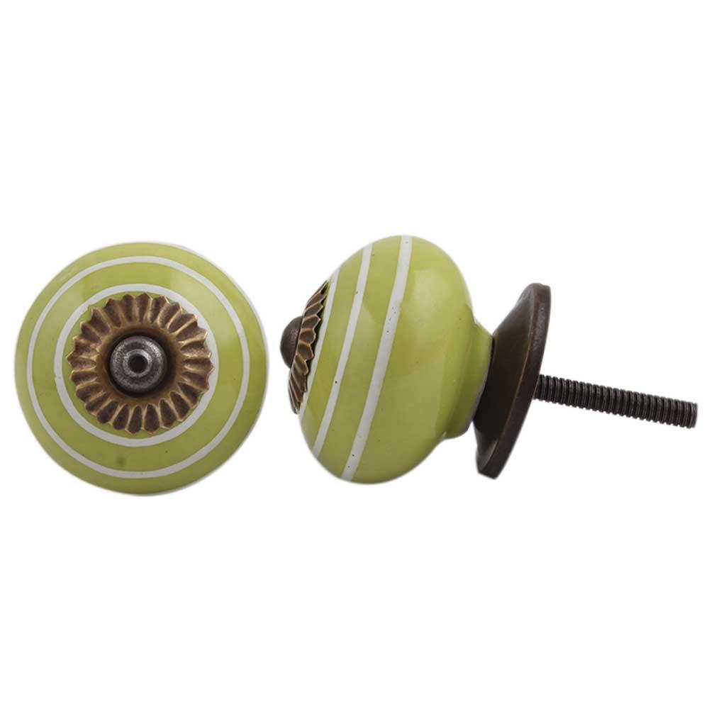 Lime Green White Knob