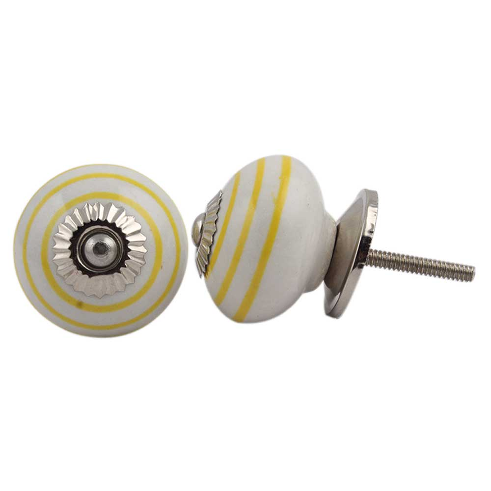 White Yellow Knob