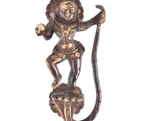 Kaalia Mardan Krishna Bronze Door Handle