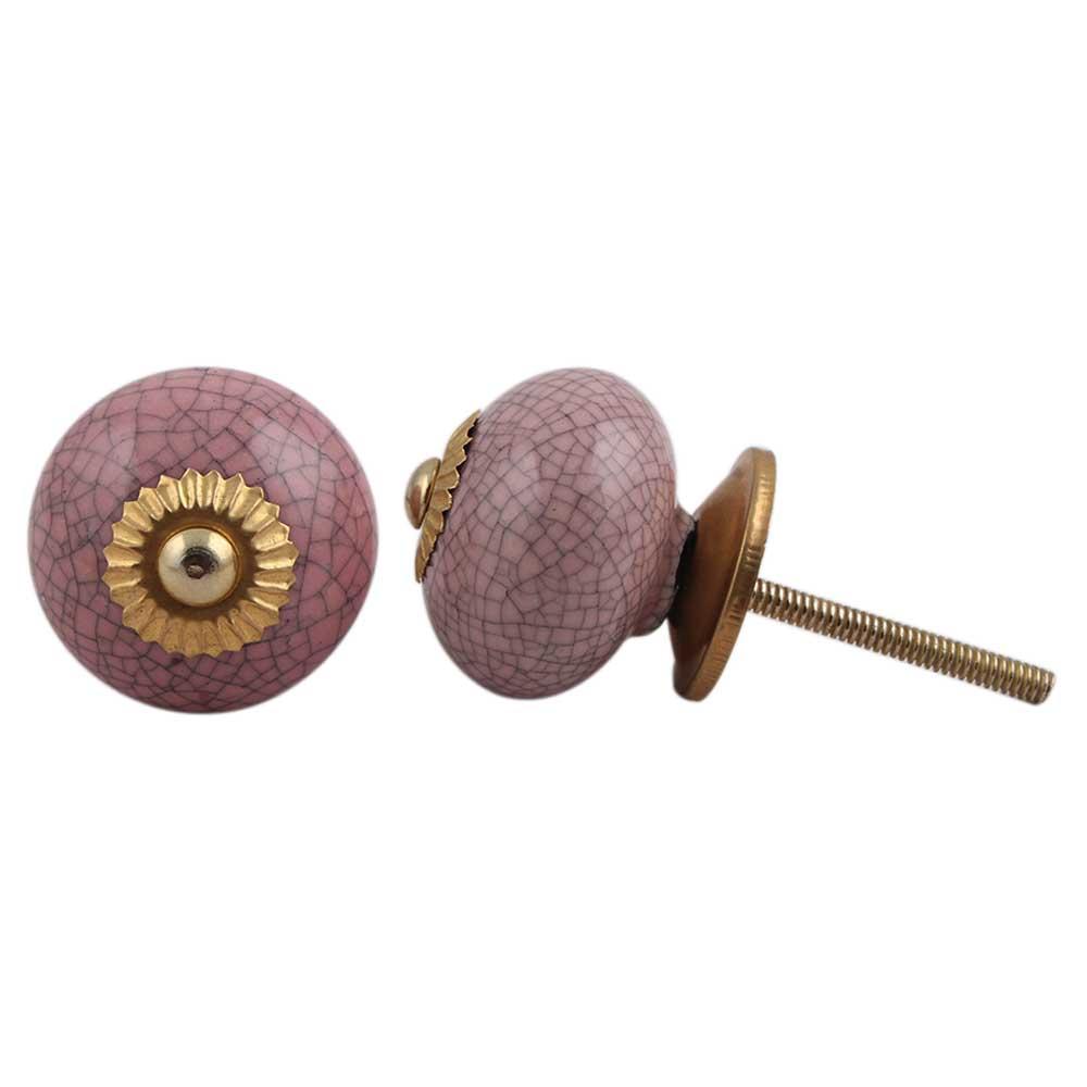 Pink-Black Crackle Ceramic Dresser Knob Online