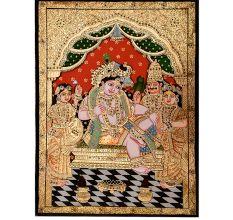 Painting Of Krishna Darbar