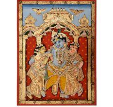 Painting Of Dancing Krishna
