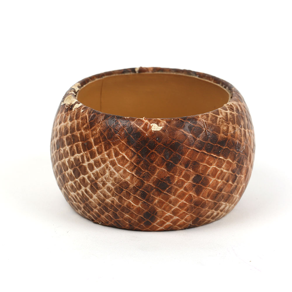 Snake skin design bangle