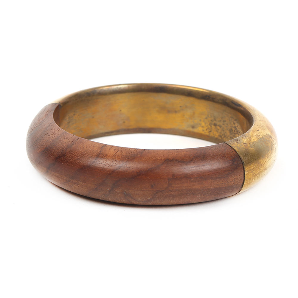 Wooden&metal bangle