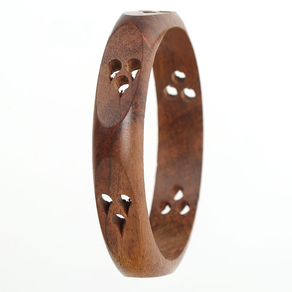 Wooden eye bangle