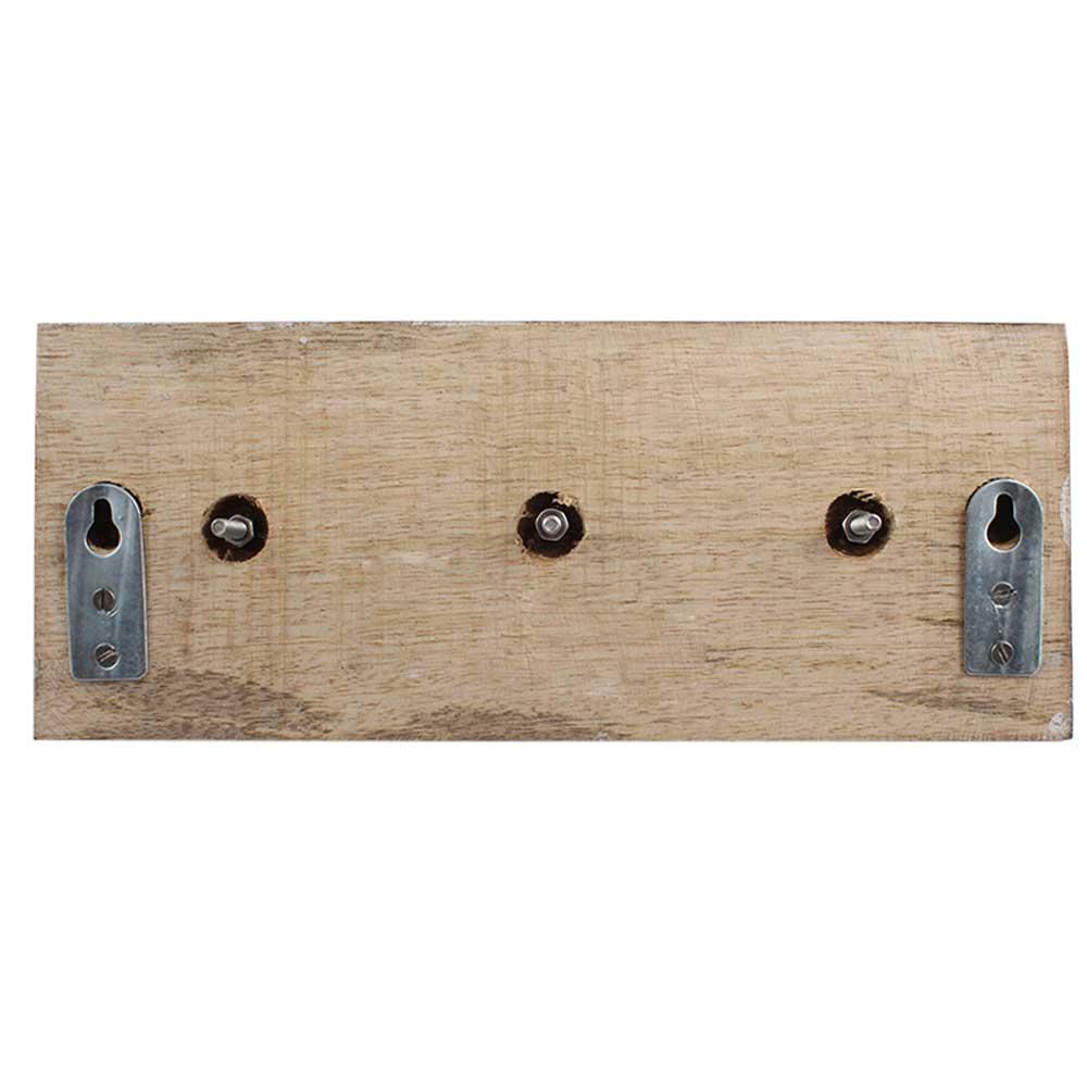 Grey White Dot Wooden Hooks
