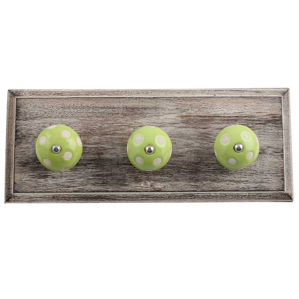 Lime Etched Wooden Hooks