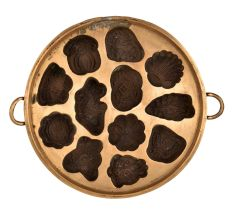 Bronze Appe Mould with Twelve Shell Shapes