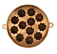 Bronze Floral Shaped Circular Vintage Appe Mould