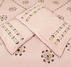 Light Pink Cotton Double Bedsheet(Pack of 1 Piece)