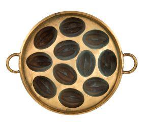 Bronze Circular Vintage Melon Shaped Appe Mould