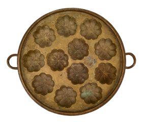 Bronze Floral Design Appe Mould