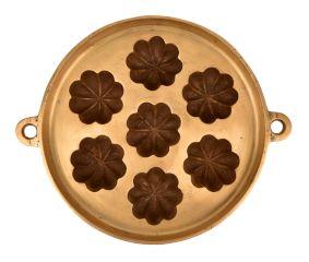 7 Cavity Bronze Circular Floral Appe Mould
