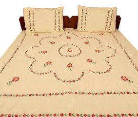 Champagne Cotton Double Bedsheet(Pack of 1 Piece)