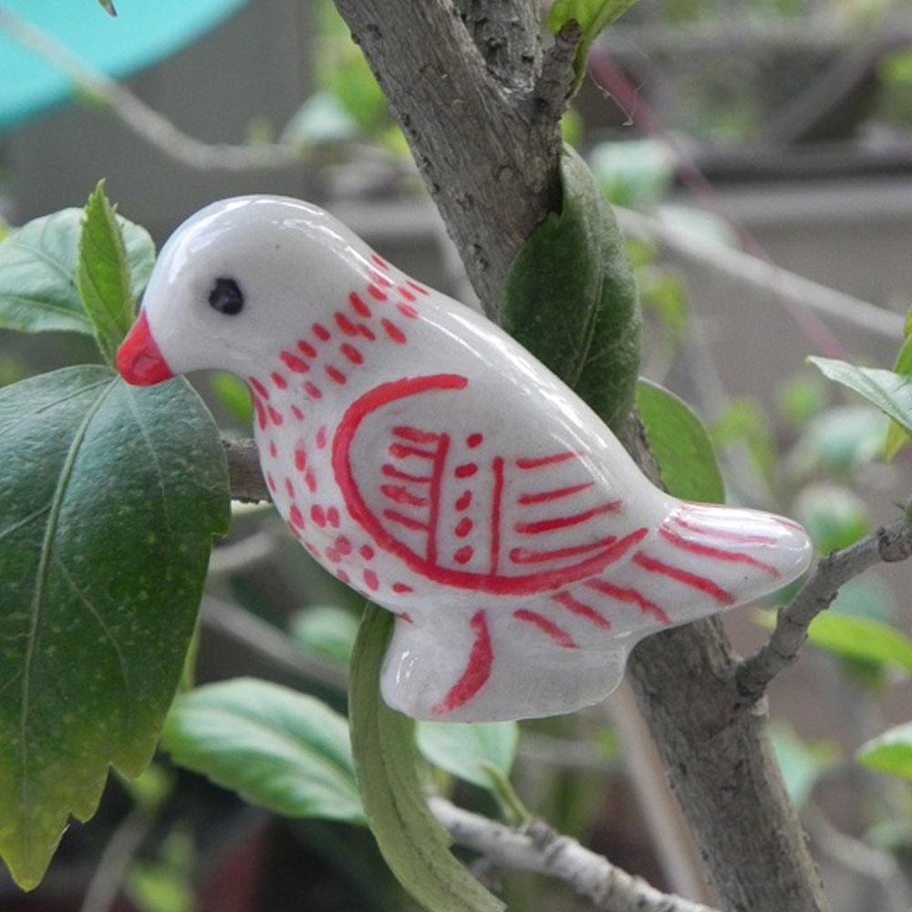 Red Feather Bird Knob