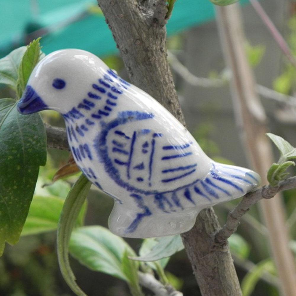 Blue Feather Bird Knob