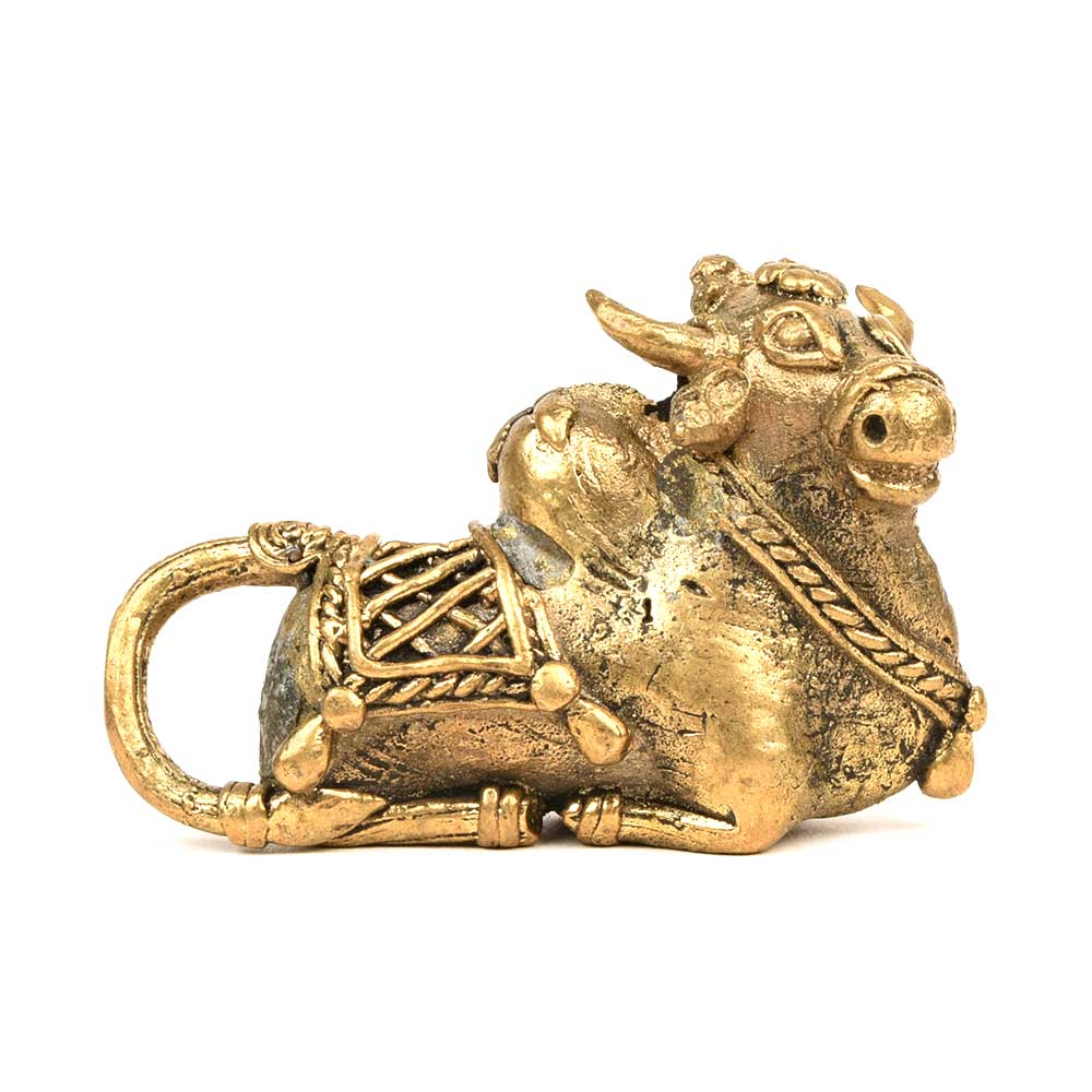 Brass Nandi Bull Decor Decorative