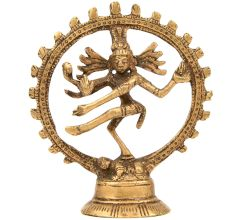 God Shiva Nataraj Polished Brass Statue