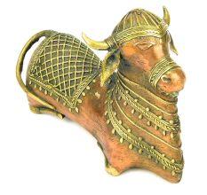Brass Nandi Bull Statue Vahana of Shiva