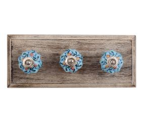 Very Berry Ceramic Wooden Hooks