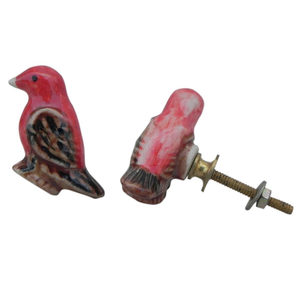 Vermilion Flycatcher Ceramic Bird Knob