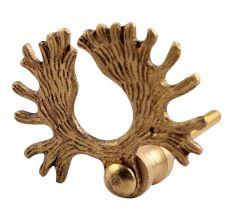 Golden Reindeer Horn Brass Drawer Knobs