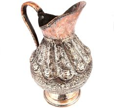 Copper Carved Islamic Jug