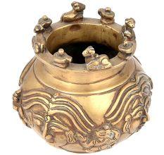Ethnic Brass Sacred Nandi Kalash