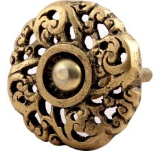 Peach Blossom Brass Drawer Knobs