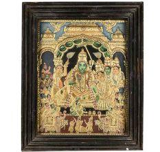 Thanjavur Painting Sri Rama With Sita
