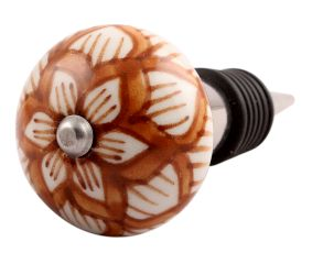 Saxifrage Ceramic Wine Stopper