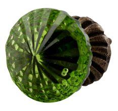 Olive Green Glass Dresser Knob Online