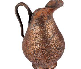 Engraved Copper Jug