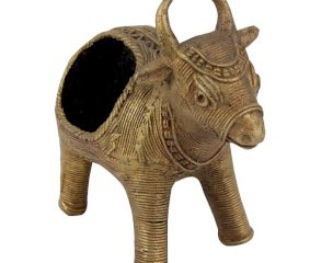 Brass Cow Napkin and Tissue Holder