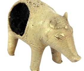Brass Dhokra Art Pig Napkin Holder